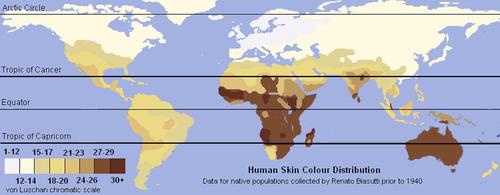 mappa colore pelle